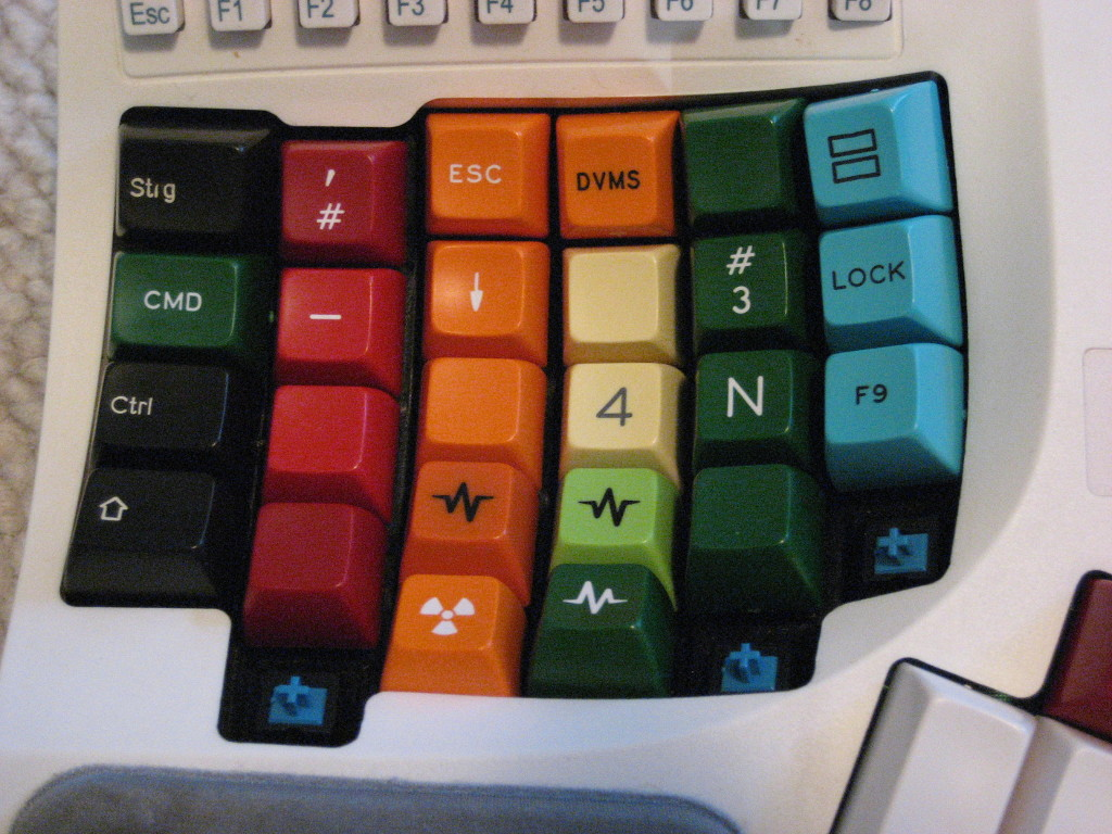Kinesis Advantage with Keycaps Removed